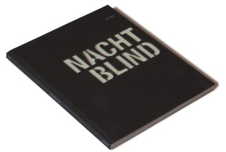 The book has an imaginative title (Nightblind) and the rough cover gives a nice touch. The text is cut out.